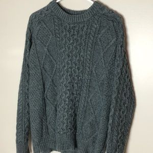 Merona cable knit sweater, large
